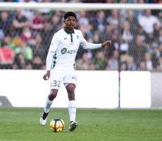 ASSE-OGC Nice (4-1) : la joie du buteur, Wesley Fofana