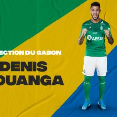Denis Bouanga avec le Gabon