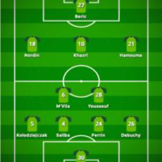 L'équipe titulaire face à Wolfsburg !