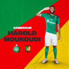 Harold Moukoudi avec le Cameroun