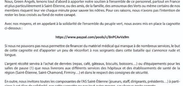 Les ultras ouvrent des cagnottes en soutien aux hôpitaux et au personnel hospitalier