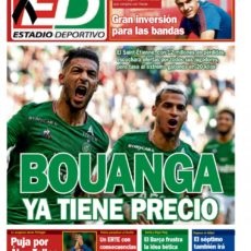 Bouanga en une de la presse espagnole