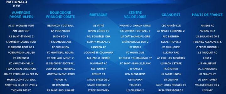 N3, D2F, U19, U19F et U17 : les groupes des équipes de l'ASSE