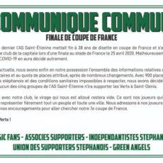 Les groupes de supporters stéphanois ne se rendront pas à Paris (Officiel)