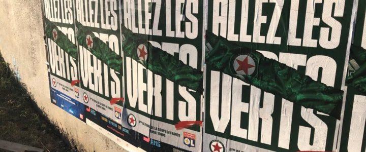Le Red Star affiche ses couleurs dans Saint-Etienne